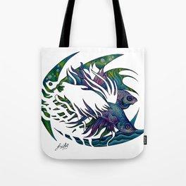 Siamese fighting fish themed artwork Tote Bag