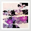 floral on torn paper by clemm
