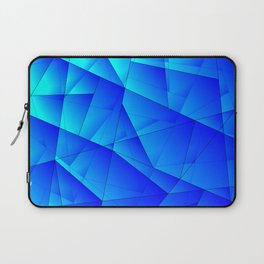 Bright sea pattern of heavenly and blue triangles and irregularly shaped lines. Laptop Sleeve