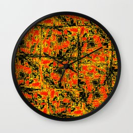 Golden Red Wall Clock