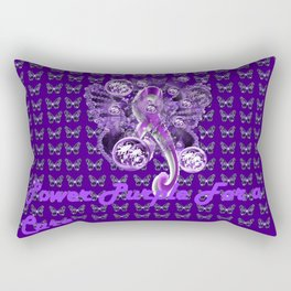Power Purple For a Cure - Pancreatic Cancer Rectangular Pillow