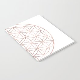 Mandala Rose Gold Flower of Life Notebook