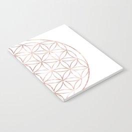 Mandala Rose Gold Flower of Life Notebook