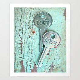 Weathered Love Art Print