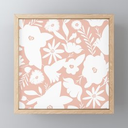 Finley Floral Blush Pink Framed Mini Art Print