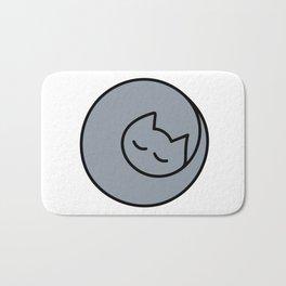 Lap Cat Gray Bath Mat