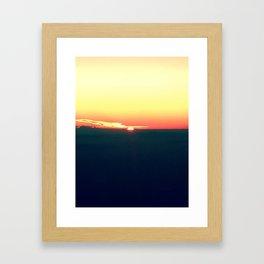 Airplane Sunset Framed Art Print