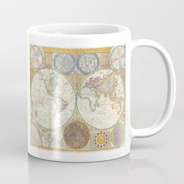 1794 Laurie & Whittle Old Map of the World Coffee Mug