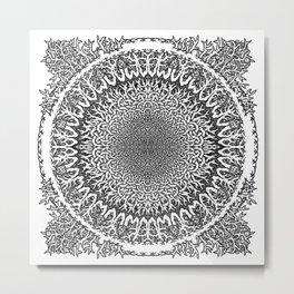 Mandala Doodle Metal Print