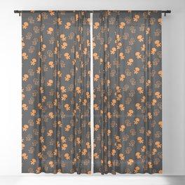 Aliens-Orange Sheer Curtain