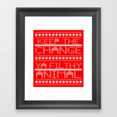 Keep the Change Christmas Sweater RonkyTonk Framed Art Print