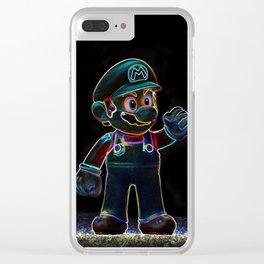 Luigi, Yoschi and Mario Clear iPhone Case