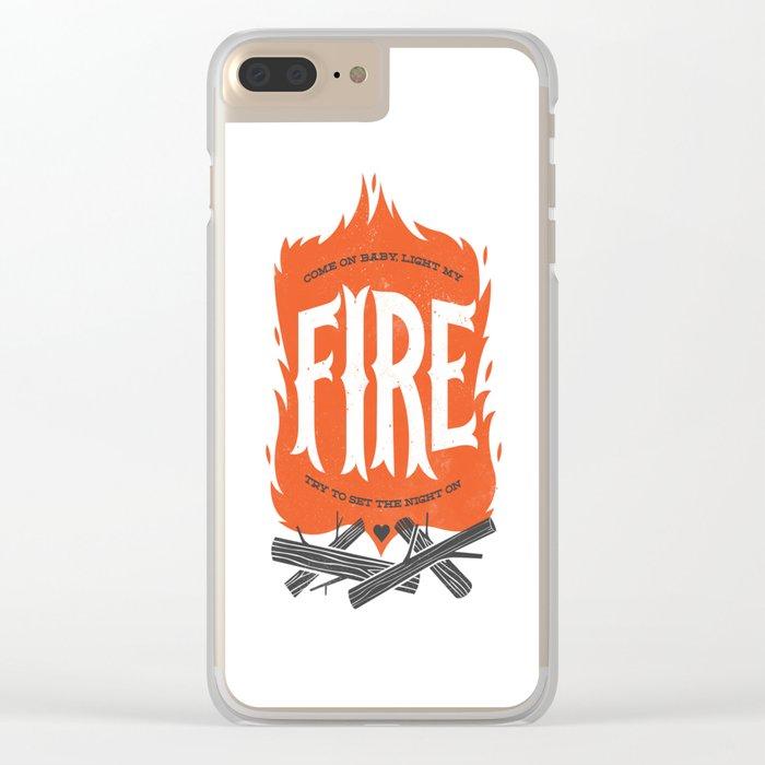 Fire Clear iPhone Case
