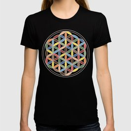 Flower of Life Retro Colors T-shirt