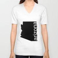 arizona V-neck T-shirts featuring Arizona by Isabel Moreno-Garcia