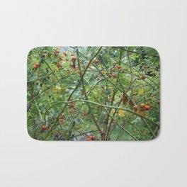 Red berry tangle Bath Mat