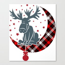 Rudolph Waiting For Christmas Canvas Print