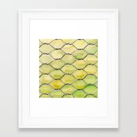 the wire Framed Art Prints featuring Chicken Wire by Dawn Patel Art