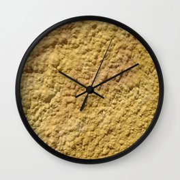 Yellow Cement Wall Wall Clock