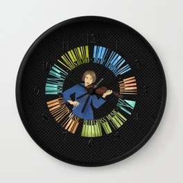 Violin Wreath Wall Clock