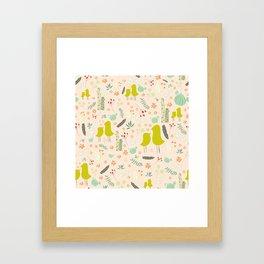 Love Like Birds Framed Art Print