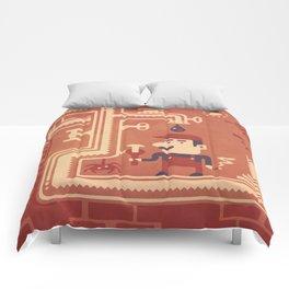 Mario at work Comforters