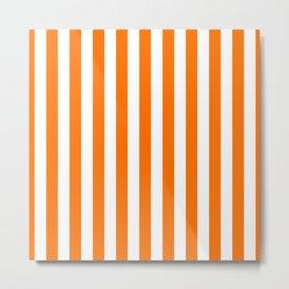 Turmeric Orange Beach Hut Vertical Stripe Fall Fashion Metal Print