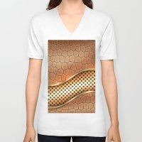 anaconda V-neck T-shirts featuring Blingin Anaconda by Robin Curtiss