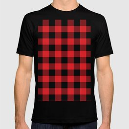 Buffalo Plaid Christmas Red and Black Check T-shirt