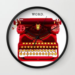 "Typowriter - ""Word"" Wall Clock"