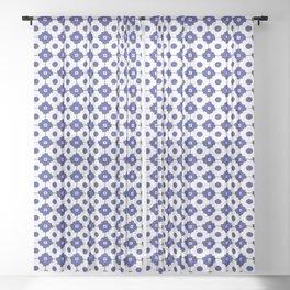 Mediterranean tiles pattern Sheer Curtain
