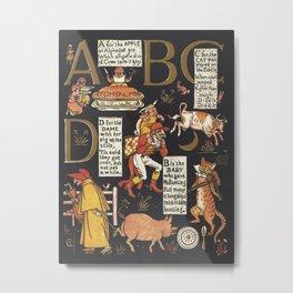 Walter Crane Alphabet Book - ABCD Metal Print