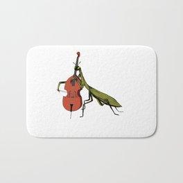 Praying Mantis Tries Cello Bath Mat
