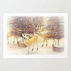 reindeers Art Print