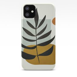 Soft Abstract Large Leaf iPhone Case