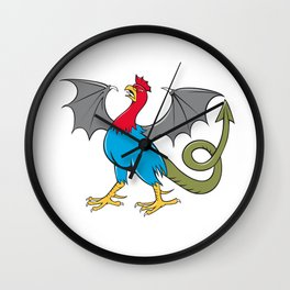 Basilisk Bat Wing Crowing Cartoon Wall Clock