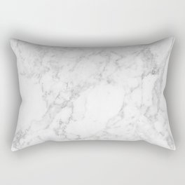 White Marble Edition 2 Rectangular Pillow