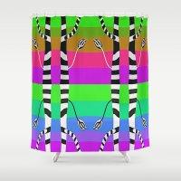discount Shower Curtains featuring Zebra Trees - Reflex by Roxana Jordan
