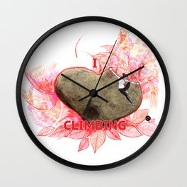 I Love Climbing Wall Clock