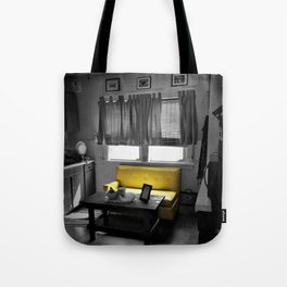Kitchen Couch, Yellow Tote Bag