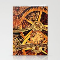 clockwork Stationery Cards featuring CLOCKWORK by Stephanie Lue