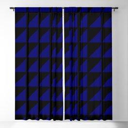 blue triangle Blackout Curtain