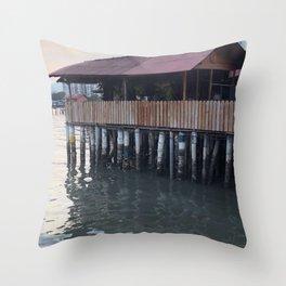 Stilt house Throw Pillow