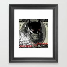 IM YOUR ONLY HERO Framed Art Print