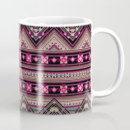 Cross Stitched Boho Coffee Mug