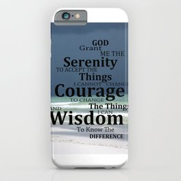 Serenity Prayer Art - Beach Theme - Sharon Cummings iPhone Case
