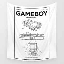 Gameboy Poster • Gamer Prints • Nintendo Patent Printable • Gift For Gamer • Games Gift • Boys Decor Wall Tapestry