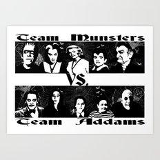 MUNSTERS/ADDAMS Art Print