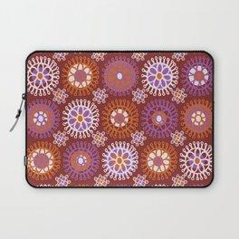 Flower Doodles Russet/Orange, circles and flower pattern Laptop Sleeve