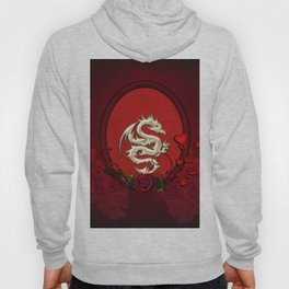 Chinese dragon with hearts Hoody